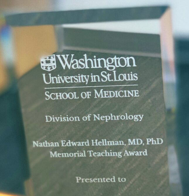 Nathan Hellman Memorial Teaching Award