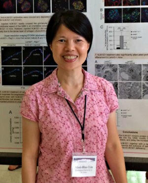 Dr. Meei-Hua Lin presented results of her research on the first Zoom Renal Research Conference.