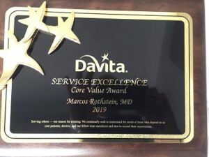 DaVita Honors Marcos Rothstein for Exemplifying Core Values