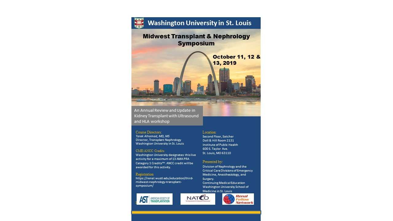 Save the Date: 4th Midwest Transplant & Nephrology Symposium