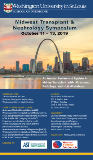 4th Midwest Transplant & Nephrology Symposium Registration Open