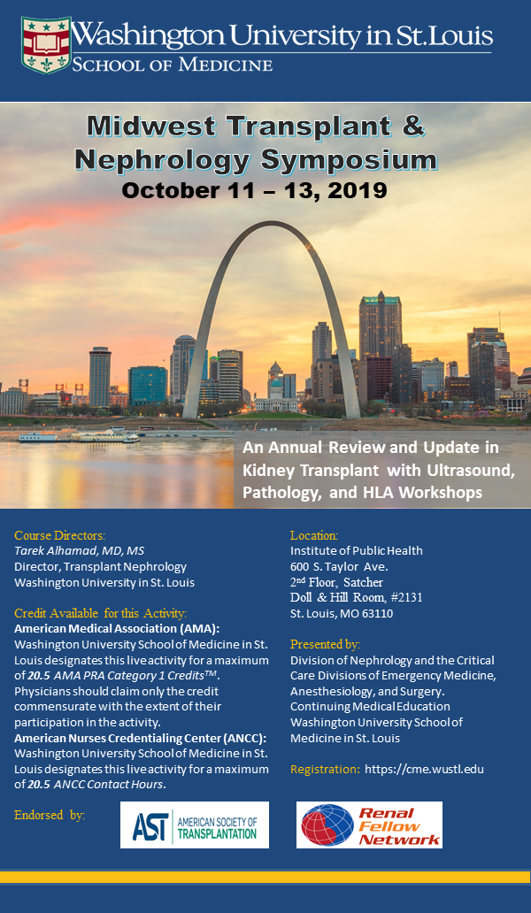 4th Midwest Transplant & Nephrology Symposium Registration