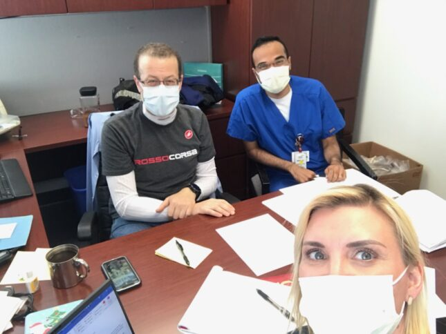Dr. George Jarad, Dr. Aniesh Bobba and Shawna McMichael, RN