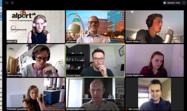 Jeff Miner hosts Alport Zoom meeting